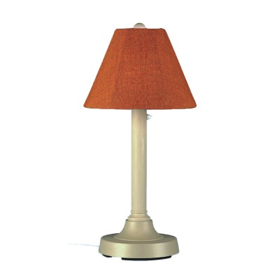 San Juan Outdoor Table Lamp with Bisque Body with Sunbrella Shade