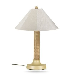 Bahama Weave Outdoor Table Lamp with Sunbrella Shade