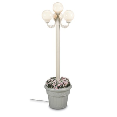 European 80 in Four White Globe Lantern Outdoor Planter Park Style