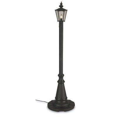 Cambridge 80 Inch Single Black Powder Coat Outdoor Lantern Post  Lamp