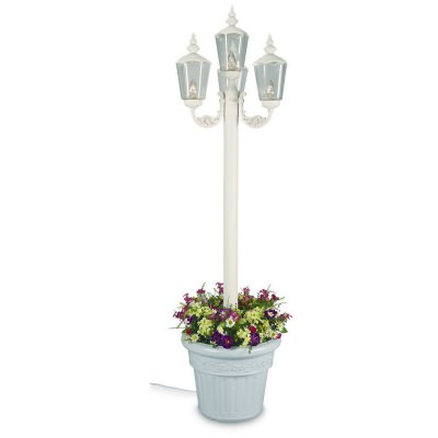 Cambridge 85 in. White Outdoor Four Lantern Post Park Style Lamp