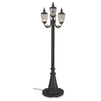 Cambridge 85 In Black Four Post Outdoor Patio Lantern Lamp Park Style