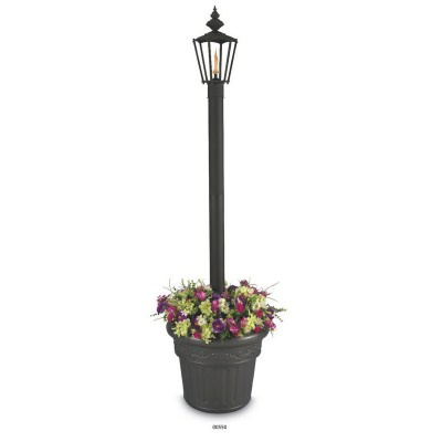 Islander Black Citronella Single Flame Planter Lantern