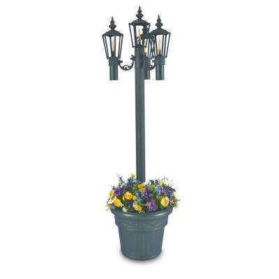 Islander 85 in. Outdoor Citronella Four Flame Park Planter Lantern