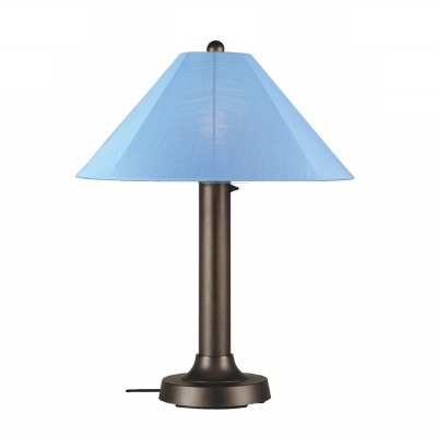 Catalina Outdoor Table Lamp with Bronze Body and Sunbrella Shade