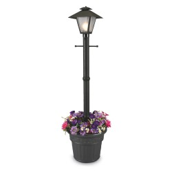 Black Cape Cod Post Lamp with Planter Base