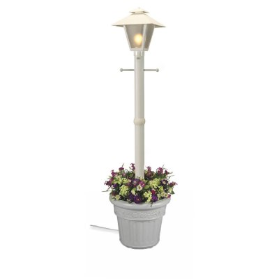 Cape Cod White Outdoor Planter Lamp