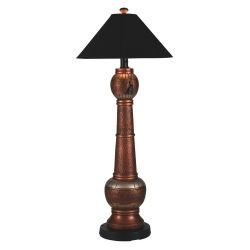 Copper Phoenix Outdoor Floor Lamp with Sunbrella Shade