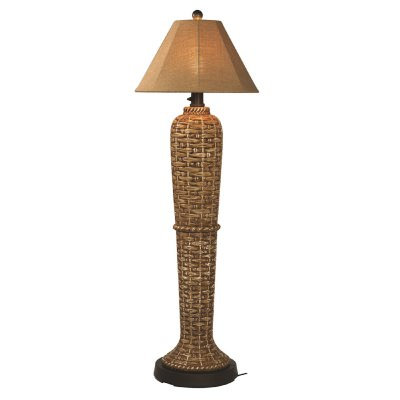 South Pacific Outdoor Floor Lamp with Sunbrella Shade