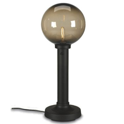 Black Moonlite Globe Outdoor Table Lamp with Bronze Globe