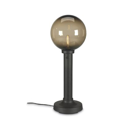 Bronze Moonlite Globe Outdoor Table Lamp with Bronze Globe
