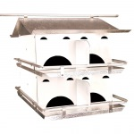 Starling Resistant Purple Martin House - 2 Floor/8 Room