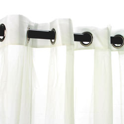 Sheer Ivory Outdoor Curtain with Grommets
