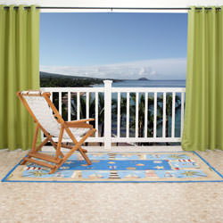 Green Gazebo Polyester Outdoor Curtain