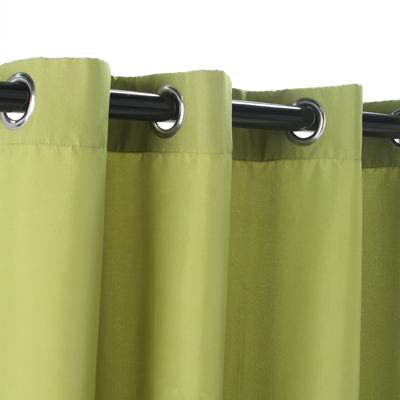 Green Polyester Grommeted Outdoor Curtain (50 x 96)