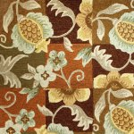 Tropical Pineapple and Flowers Indoor/Outdoor Rug