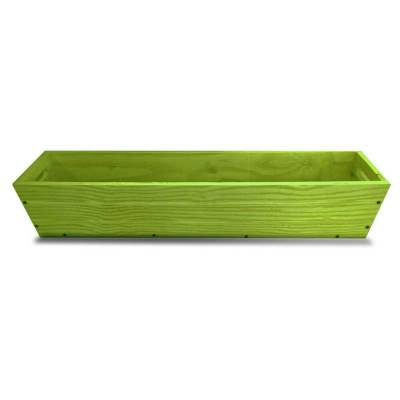 SGC 36 in Rectangle Wood Patio Planter in Green