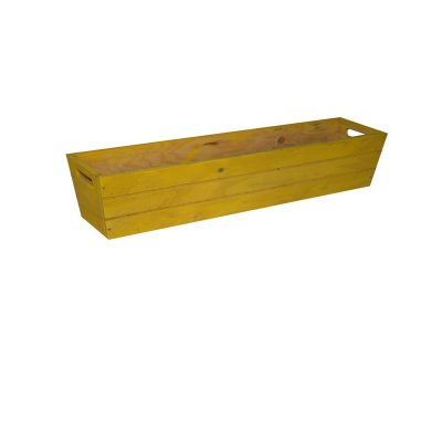 SGC 36 in Rectangle Wood Patio Planter in Yellow