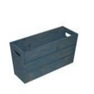SGC 16 in Rectangle Wood Patio Planter in Blue