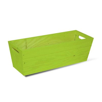 SGC 16 in Rectangle Wood Patio Planter in Green