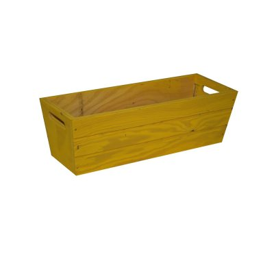 SGC 16 in Rectangle Wood Patio Planter in Yellow