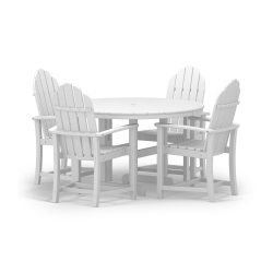 Classic Adirondack Dining 5-Pc. Set in White