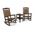 Presidential Woven Rocker 3-Piece Set in Mahogany Frame and Tigerwood