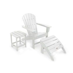 South Beach Adirondack 3-Piece Set  in White