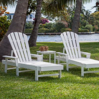 South Beach Chaise 3-Piece Set in White