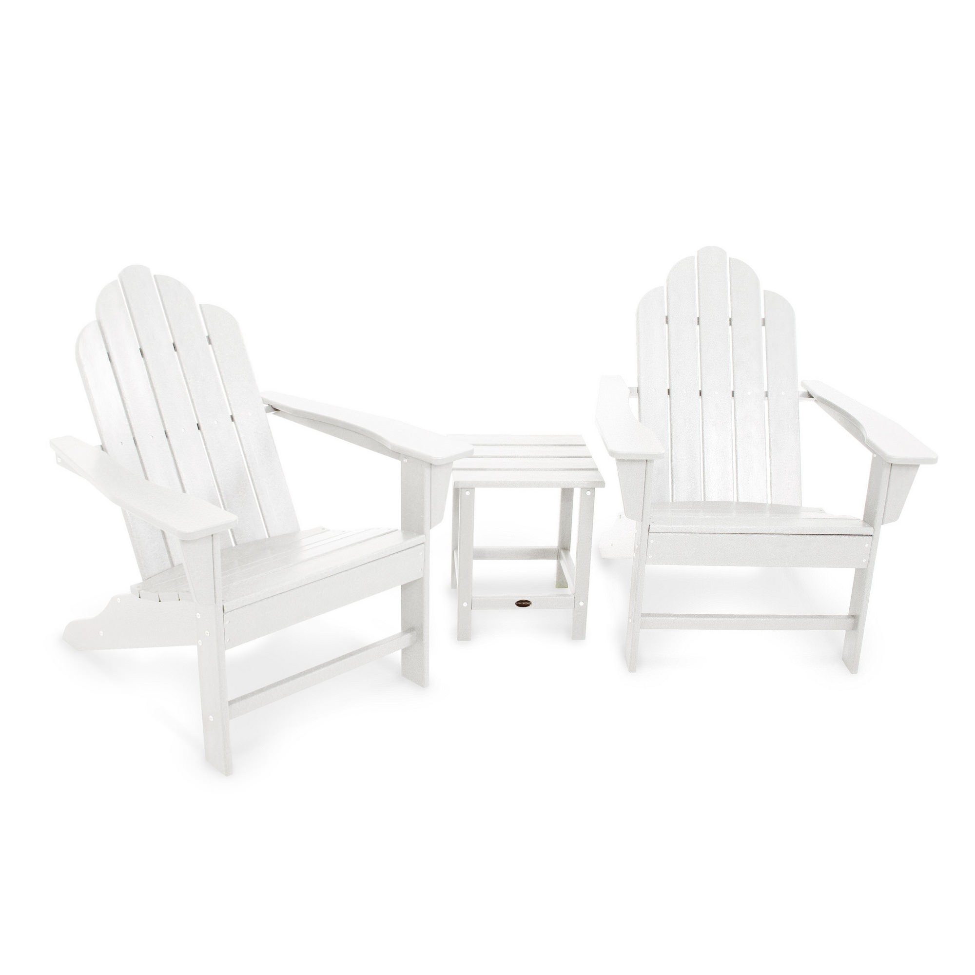 Furniture Clearance Long Island: Polywood Long Island Adirondack 2 Chair And Side Table Set