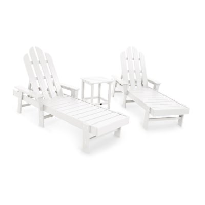 Long Island Chaise 3-Piece Set in White