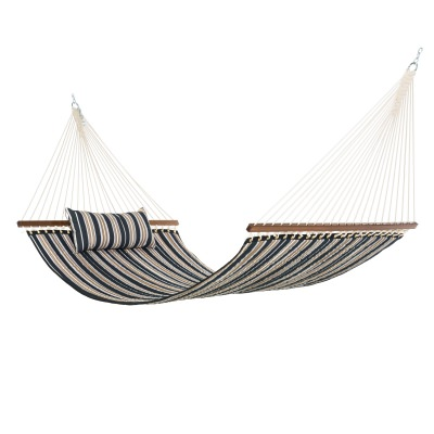 Large Quilted Hammock with Pillow - Brown and Black