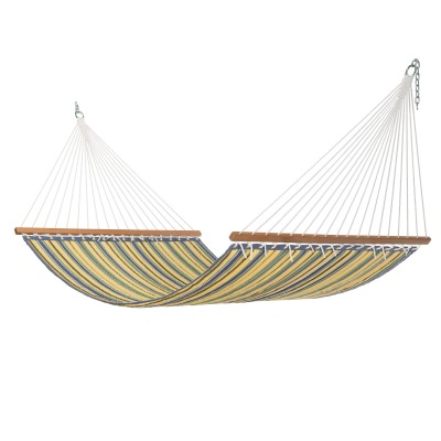 Large Quilted Hammock - Wicker Stripe
