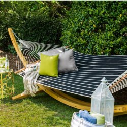 Quilted Hammock - Classic Black Stripe