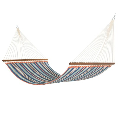 Large Polyester Quilted Hammock - Red and Blue Stripe