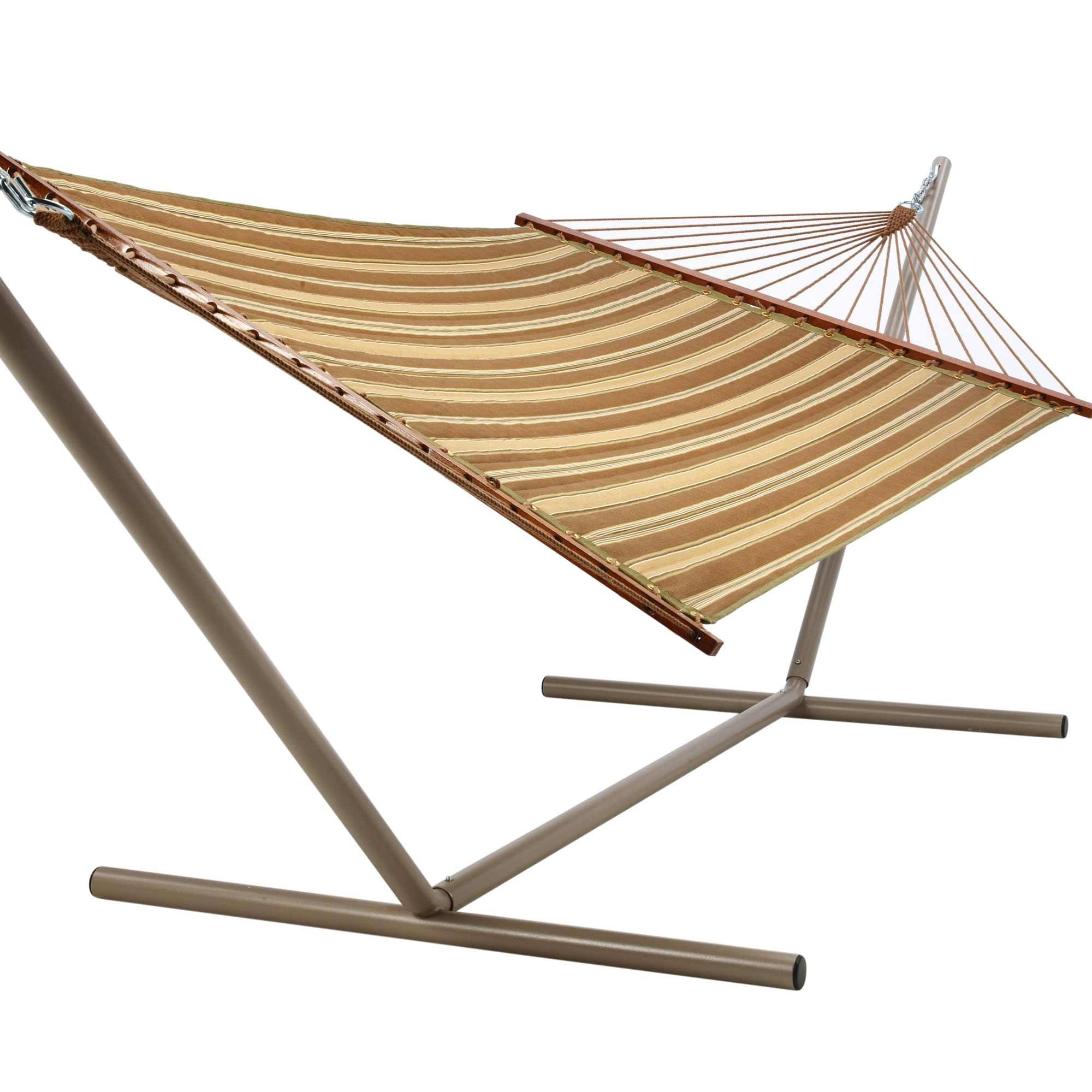 quilted hammock   beau green and brown stripe castaway hammocks beau green  u0026 brown stripe quilted hammock   dfohome  rh   dfohome