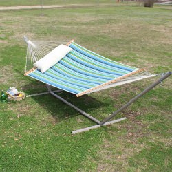 Large 2 Person Quilted Hammock Made in the USA - Sea Grass Topanga Stripe