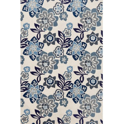 Ravella Floral China Blue Outdoor Rug