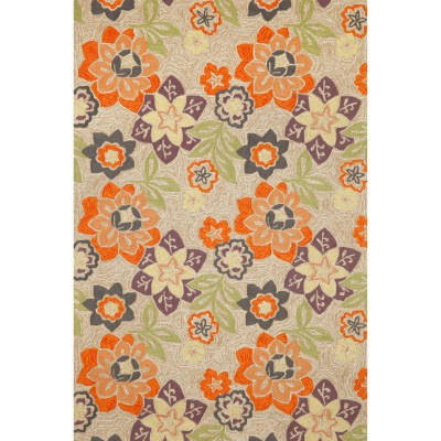 Ravella Floral Natural Purple Outdoor Rug