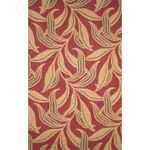 Ravella Leaf Red Outdoor Rug
