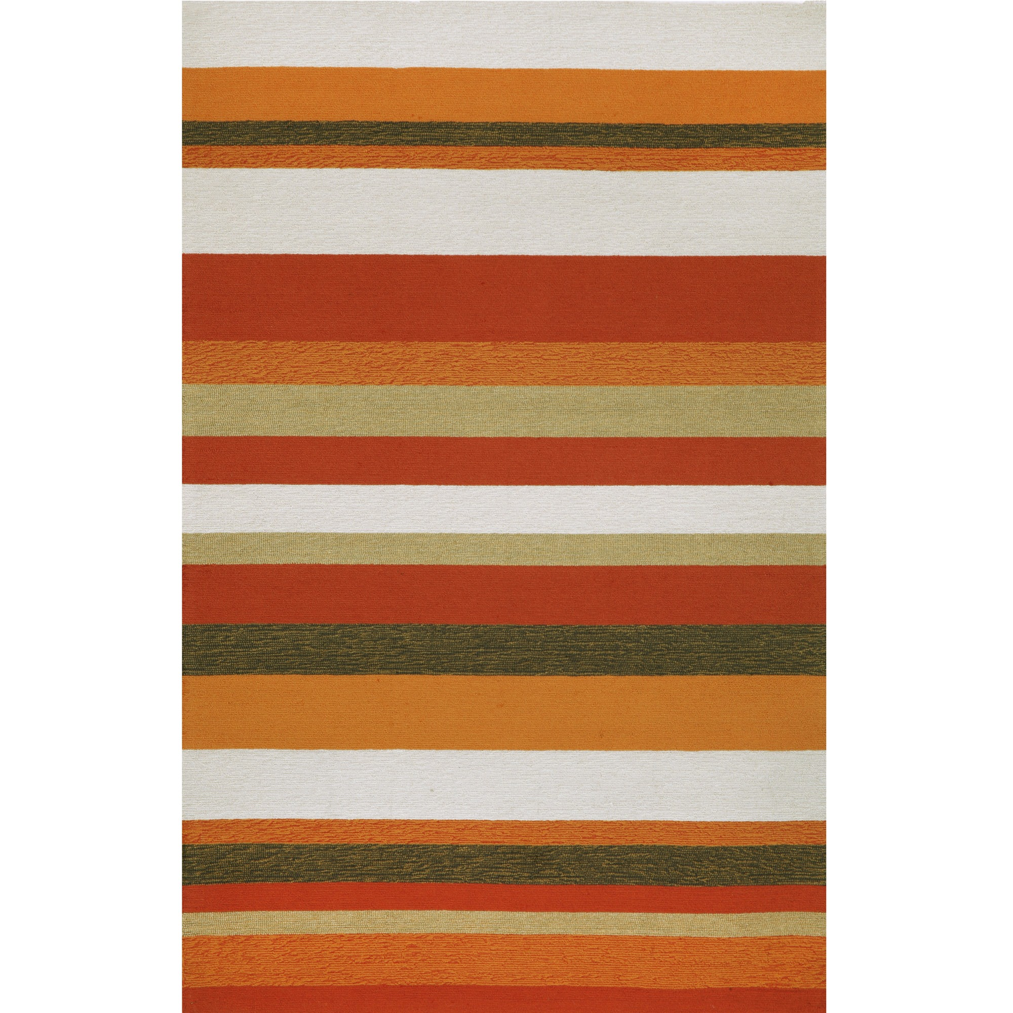 Shop Ravella Stripe Orange Outdoor Door Mat 24 Liora Manne By