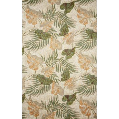 Ravella Tropical Leaf Neutral Outdoor Rug