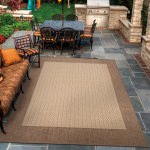Recife Checkered Field Natural/Cocoa Outdoor Rug