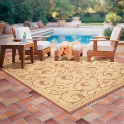 Recife Veranda Natural/Terra-Cotta Outdoor Rug