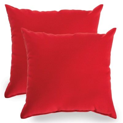 Red Indoor/Outdoor Throw Pillow - Set of Two
