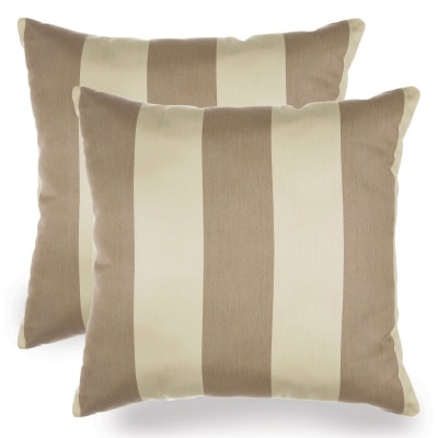 Regency Sand Sunbrella Indoor/Outdoor Throw Pillow - Set of Two