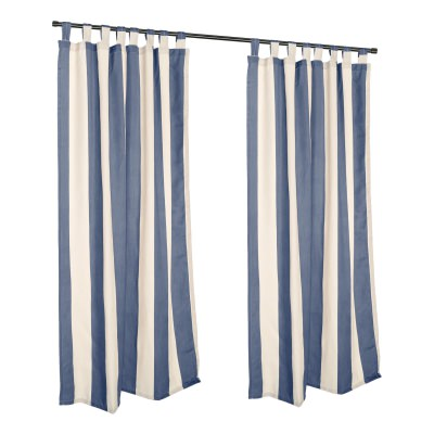 Regency Indigo Sunbrella Tab Top Outdoor Curtain - 50 in. x 96 in.