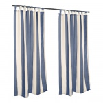 Sunbrella Regency Indigo Outdoor Curtain with Tabs