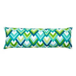 52 Inch Long Hammock Pillow with Polyester Filling - Peacock