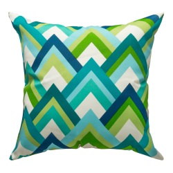 Resort Peacock Indoor/Outdoor Throw Pillow 18 in. x 18 in.
